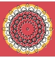 Mandala on round background vector image vector image