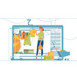 modern shopping stand vector image