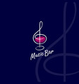 music bar logo vector image
