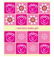 Newborn Girl Background vector image vector image