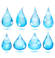 Opaque drops in saturated light blue colors vector image vector image