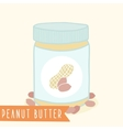 Peanut butter in jar vector image