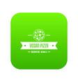pizza vegan icon green vector image vector image