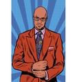 Retro hipster African American black man elegant vector image vector image