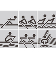 Rowing icons vector image vector image