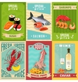 Seafood Poster Set vector image vector image