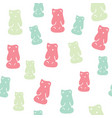 seamless pattern with colorful gummy bears vector image