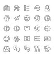 set help and support line icons call center vector image