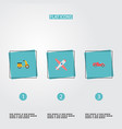 set of auto icons flat style symbols with moped vector image vector image
