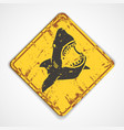 Shark plate vector image