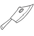simple black and white meat chopper vector image