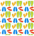 slippers summer shoes seamless pattern vector image