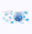 smart futuristicinternet things system global vector image vector image