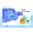 smart object and smart technology design vector image vector image