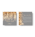 square background with golden light vector image vector image