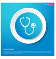 stethoscope icon abstract blue web sticker button vector image vector image