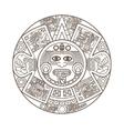 stylized aztec calendar vector image vector image