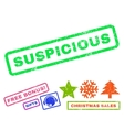 Suspicious Rubber Stamp vector image vector image