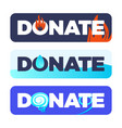 the button donate or material assistance for vector image