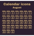 The calendar icon August symbol Flat vector image vector image