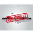 top secret city vector image vector image