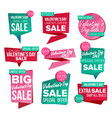 valentine s day sale banner set sale vector image
