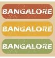 Vintage Bangalore stamp set vector image vector image