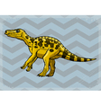 vintage grunge background with dinosaur vector image vector image