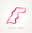 western sahara - outline map vector image vector image