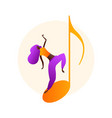 woman character dancing in flat style vector image