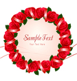 wreath of red roses vector image vector image