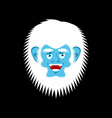yeti cheerful emoji bigfoot happy face abominable vector image vector image