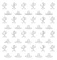 cactus and sombrero pattern vector image