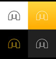 m line logo icon flat and design template vector image