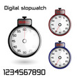 set of 3d stop watches vector image