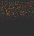 abstract glitter shimmering particles over dark vector image
