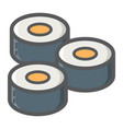 sushi filled outline icon food and drink vector image