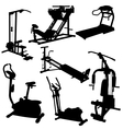 trainer silhouettes vector image