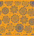 ornamental pattern circle seamless texture vector image