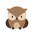 adorable owl character vector image vector image