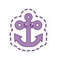 anchor marine symbol kawaii style vector image vector image