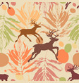 autumn in forest seamless pattern vector image vector image