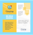 avatar on monitor company brochure title page vector image vector image