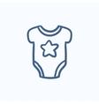 Baby short-sleeve bodysuit sketch icon vector image vector image