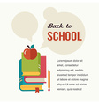 Back to school read the books concept backgound vector image