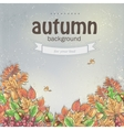 background image for your text with autumn leaves vector image vector image