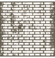 Background of old vintage dirty brick room vector image vector image