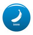banana icon blue vector image vector image