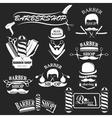 Barbershop tool collection vector image vector image