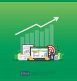 big data analysis on screen seo analytic or vector image vector image